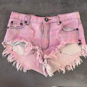 One Teaspoon Pink Shorts